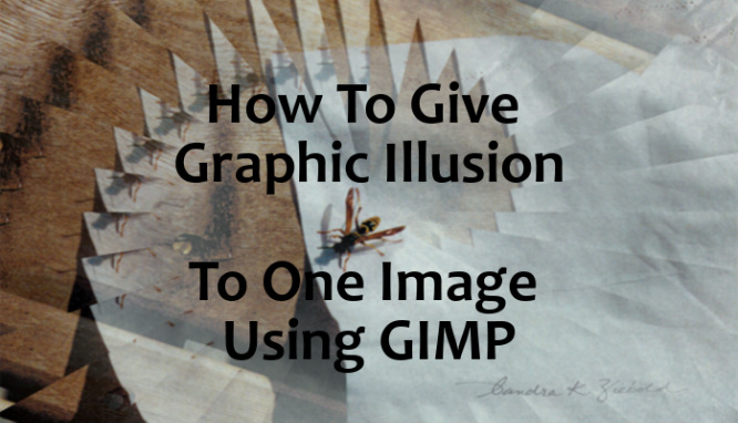 How To Give Graphic Illusion To One Image Using Gimp